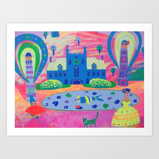 Oh, It's So Exciting! Art Print