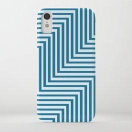 Bold Blue on Blue Zig Zag iPhone Case