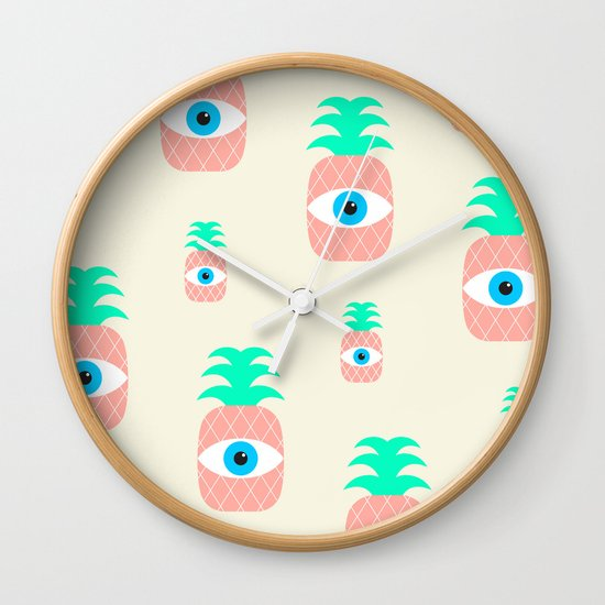 P[eye]NEAPPLES Wall Clock
