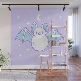Cute Pastel Bat Wall Mural