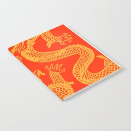 Red and Gold Battling Dragons Notebook