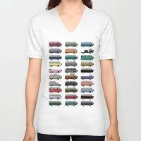 van V-neck T-shirts featuring Camper Van by WyattDesign
