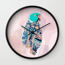Bird and foulard Wall Clock