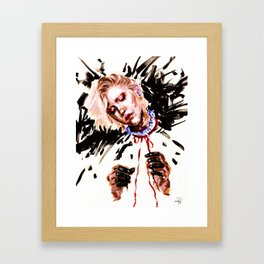 Fool with a Red Ribbon Framed Art Print