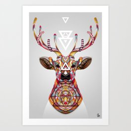 """OH Deer"" by Giulio Rossi Art Print"
