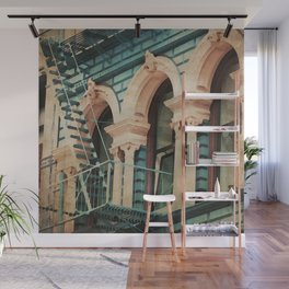 The Escape - Kitschy Vintage Watercolor New York City Manhattan Wall Mural