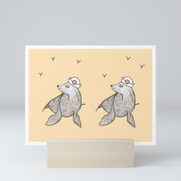 Seals Ahoy! Mini Art Print