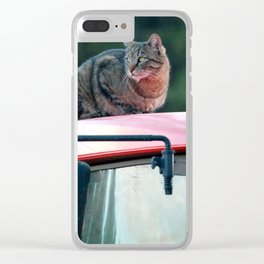 Tractor Cat Clear iPhone Case