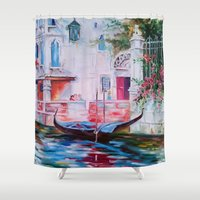 venice Shower Curtains featuring Venice by OLHADARCHUK