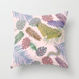 BUGS & LEAVES Throw Pillow