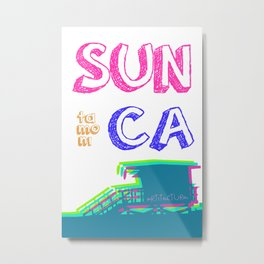 SUNta moniCA Metal Print
