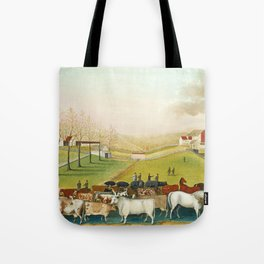 The Cornell Farm by Edward Hicks Tote Bag