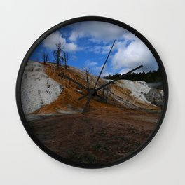 Mammoth Hot Spring Colors Wall Clock