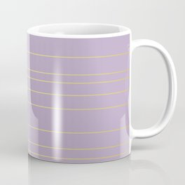 Pastel Watercolor Floral with Metallic Stripes Coffee Mug