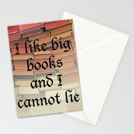 I like big books Stationery Cards
