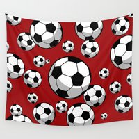 soccer Wall Tapestries featuring Soccer by joanfriends