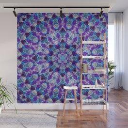 Luminous Crystal Flower Mandala Wall Mural