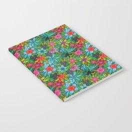 Pattern kitties and flowers Notebook