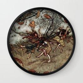 """Autumn Fairies"" by Arthur Rackham Wall Clock"