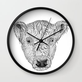 Galloway Cow Wall Clock