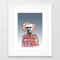 poe Framed Art Prints featuring Poe by dvhstudios