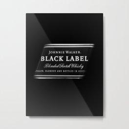 black label 1 Metal Print