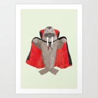 Vampire Walrus Art Print