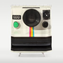 Retro 80's objects - Instant Camera Shower Curtain