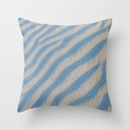 Pattern, waves in the sand Throw Pillow