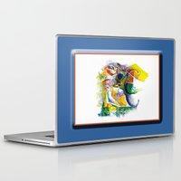bookworm Laptop & iPad Skins featuring Bookworm by CrismanArt