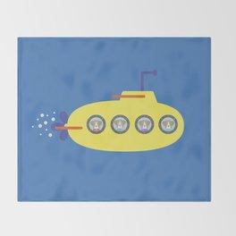 The Beagles - Yellow Submarine Throw Blanket