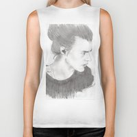 harry styles Biker Tanks featuring harry styles by stylin_art
