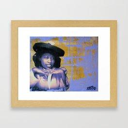 Bertha, Bright and Gold Framed Art Print