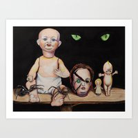 Dolls and Spiders Art Print