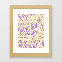 Repeating Fish Pattern Framed Art Print