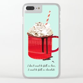 Fall in Chocolate Clear iPhone Case