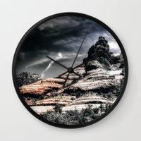 30 rock Wall Clocks featuring Vortex ! by AwakeningLight