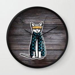 Gato Cholo - Kitty Cat Wall Clock