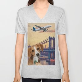 Bree in New York Unisex V-Neck