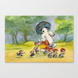 Waldo in the rain Canvas Print
