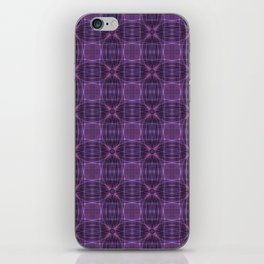 Dark purple quilt pattern iPhone Skin