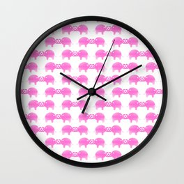 Love Elephants - Valentines Wall Clock