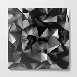 Dark Triangular Geometry III Metal Print