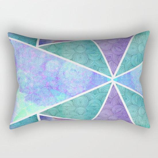 Geometric Reflection Rectangular Pillow