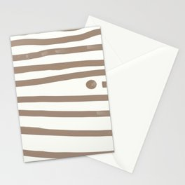 Brown Stripes Stationery Cards