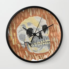 I Want To Live- Skull Painting Wall Clock