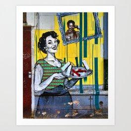 Abuela cuando era joven Art Print