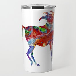 Horse Colorful Silhouette Travel Mug