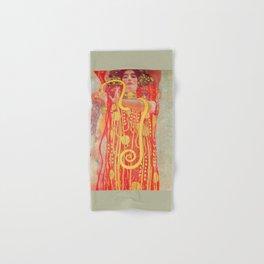 Gustav Klimt - Greek Goddess of Medicine Hygeia Hand & Bath Towel