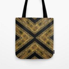 Black Gold | Tribal Geometric Tote Bag